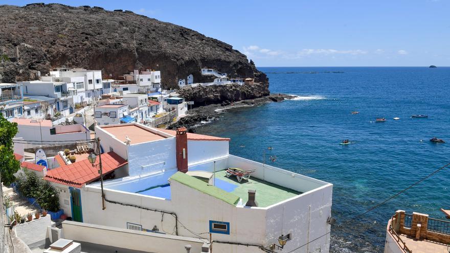 Playa de Tufia, en el municipio de Telde (03/09/2021)