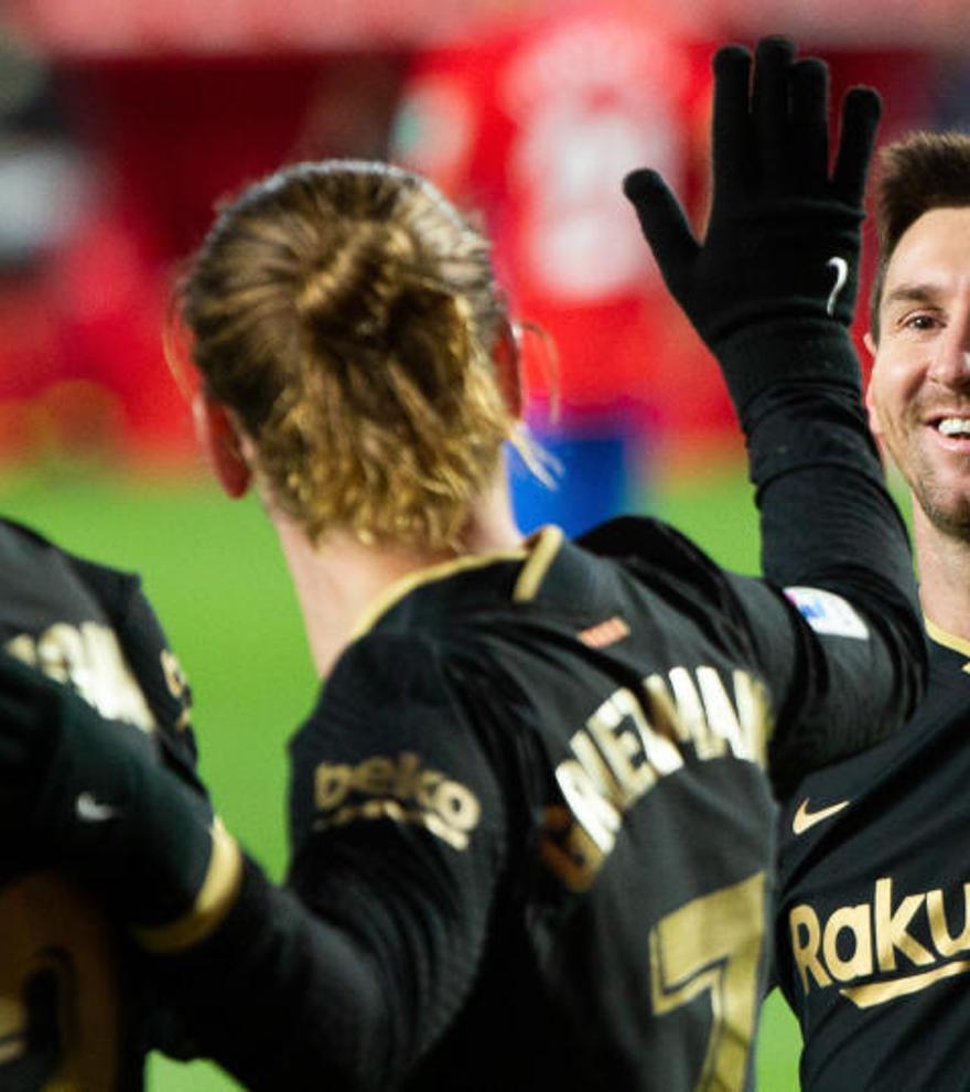 Todos los goles de la jornada 18 de LaLiga: dobletes de Messi y Griezmann