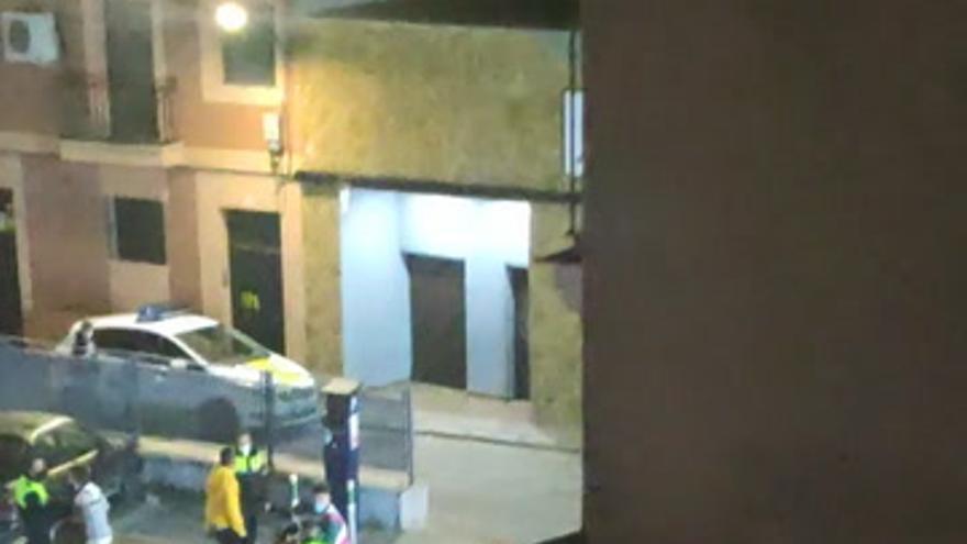 Altercado con la policía en Villanueva de la Serena