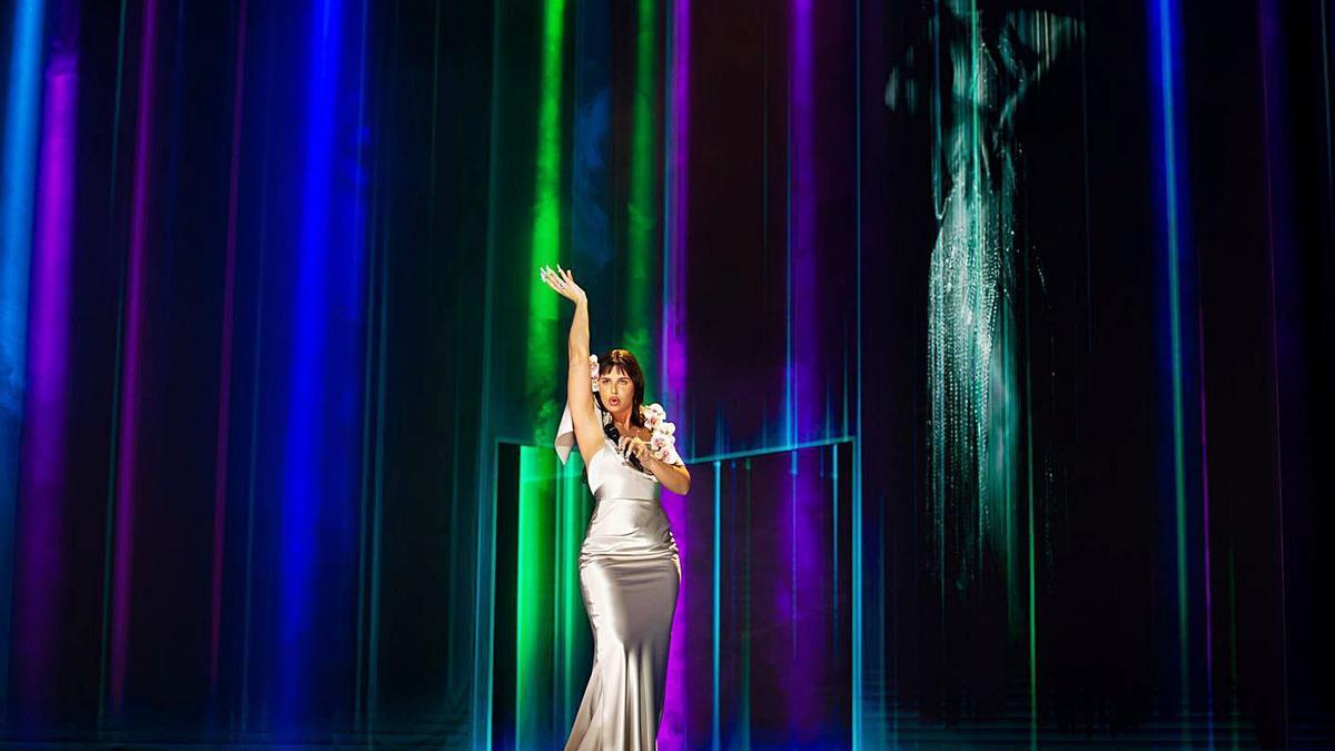 La argentina Nathy Peluso durante su actuación en los últimos Premios Goya.