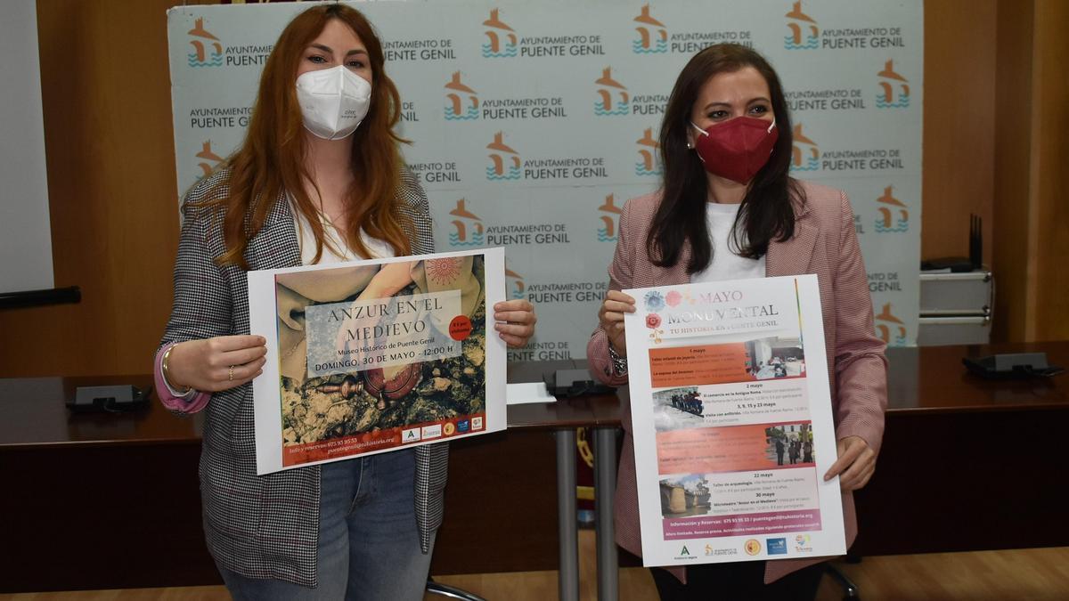 María Baena y Ana Carrillo presentan las actividades.