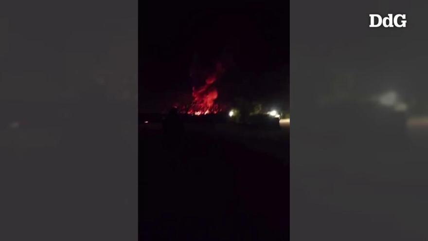 VÍDEO | Incendi en un càmping de Porqueres