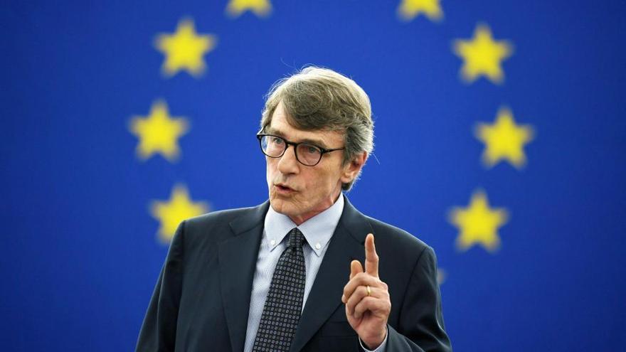 David-Maria Sassoli, presidente del Parlamento Europeo.