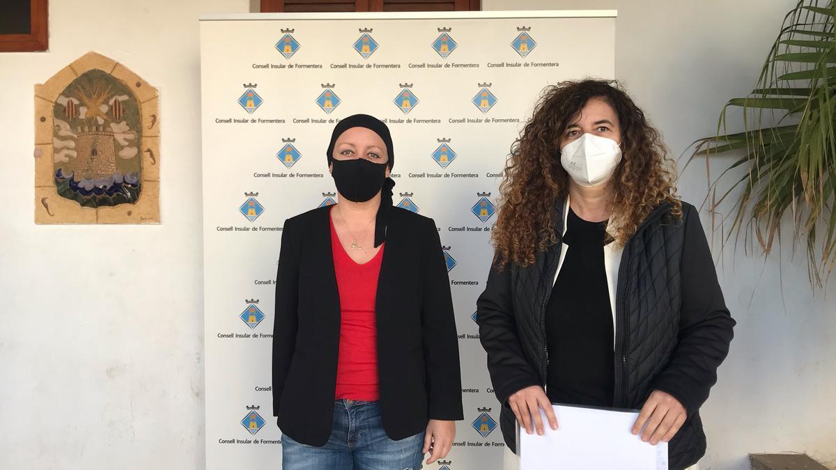 La portavoz del Govern, Pilar Costa, y la presidenta del Consell de Formentera, Alejandra Ferrer, han valorado la situación de la isla