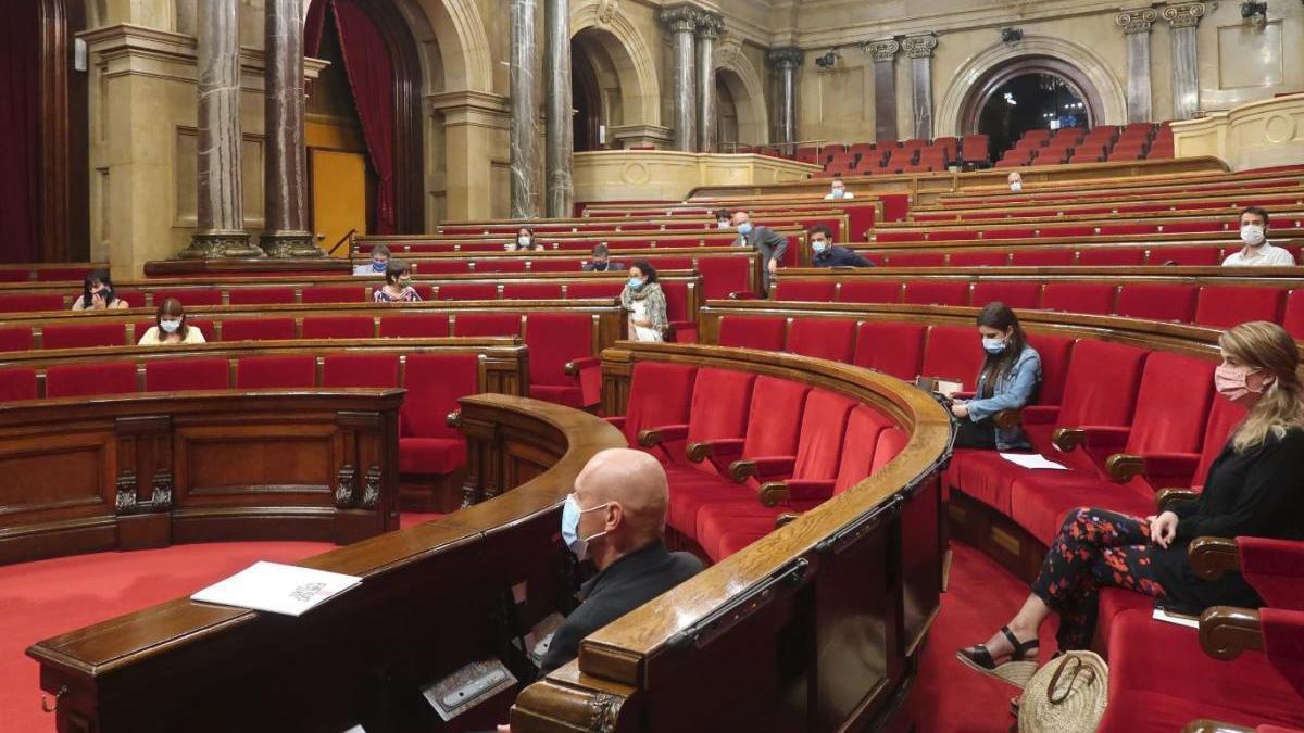 Imatge del Parlament, aquest dimarts.