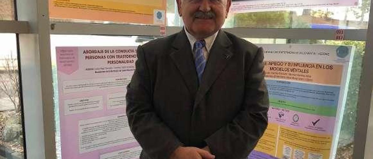 Francisco Megías-Lizancos, ayer, en el Hospital San Agustín.
