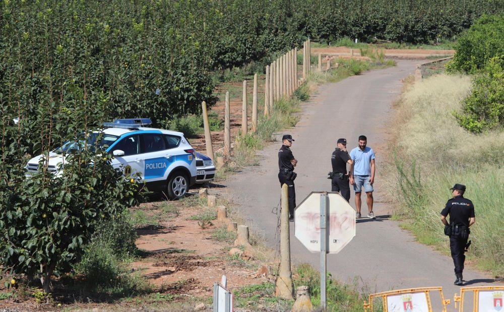 Operativo de búsqueda de la vaquilla fugada de las fiestas de Almenara
