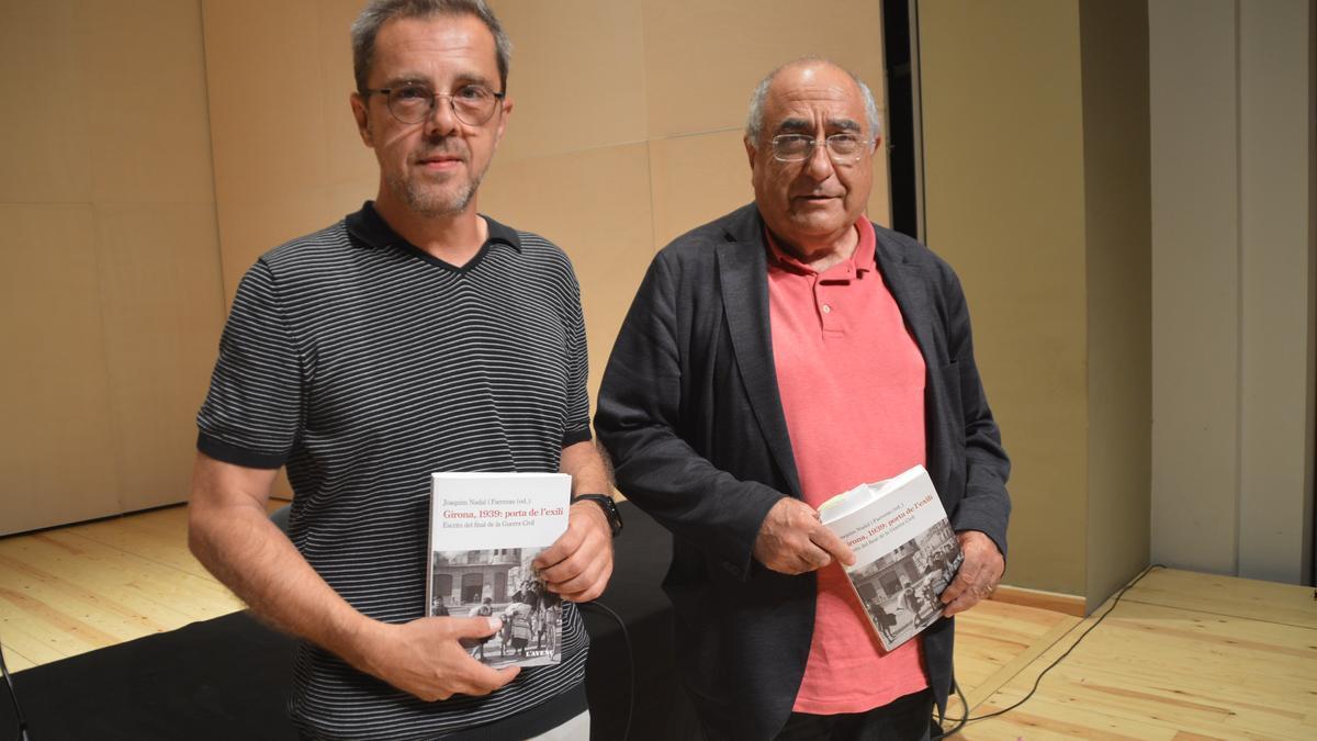 Joaquim Nadal amb el regidor Alfons Martínez Puig