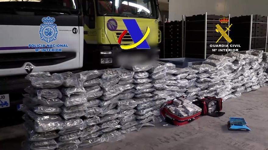 Detenidas 65 personas en la desarticulación de una red que iba a distribuir 12 toneladas de hachís por el Levante