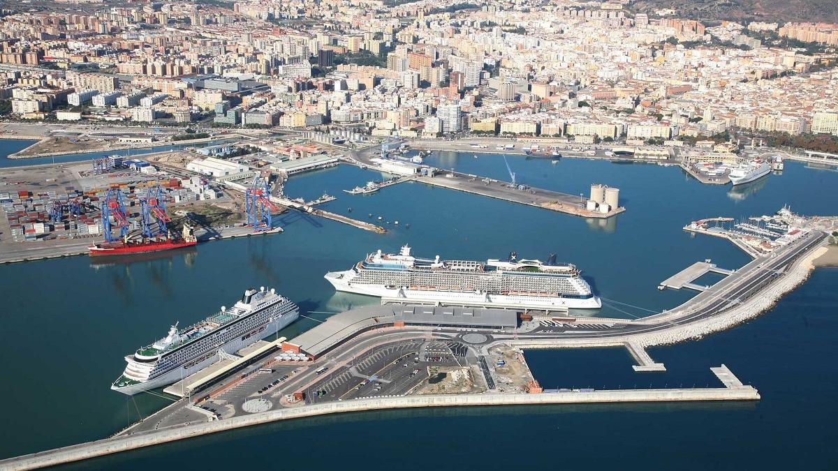 Imagen aérea del Puerto.