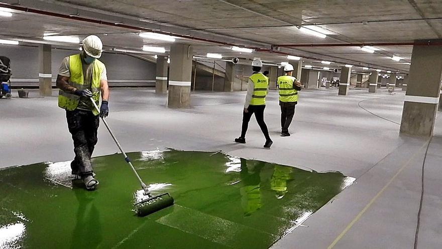 El aparcamiento de la estación intermodal de Ourense abrirá en el mes de julio con 300 plazas