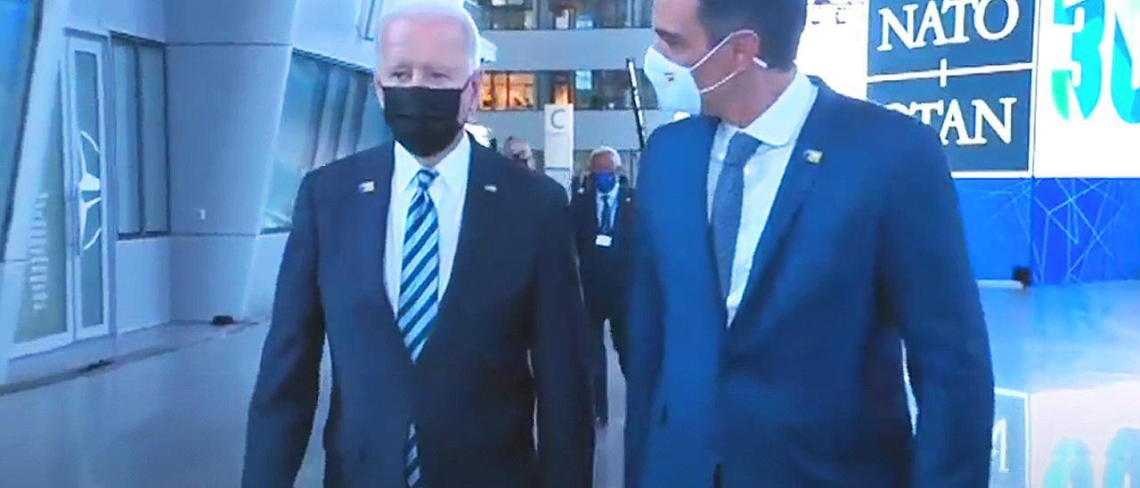 Pedro Sánchez y Joe Biden.
