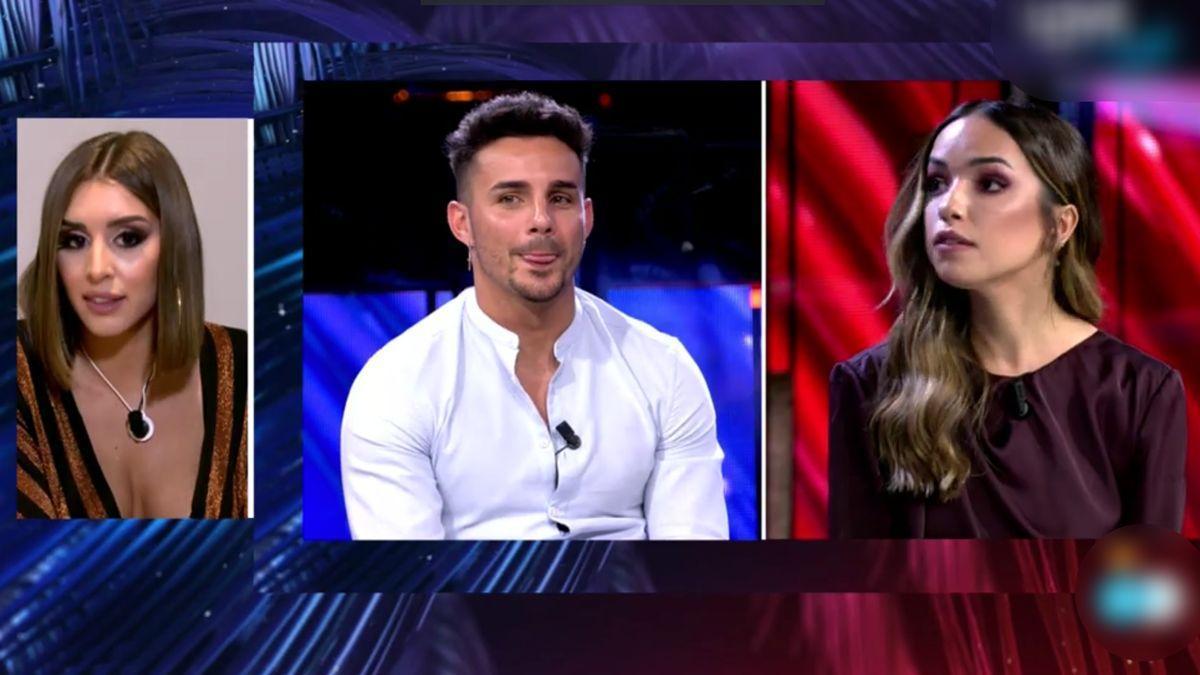 Marina, Manuel y Lucía en el debate final de 'La isla de las tentaciones'.