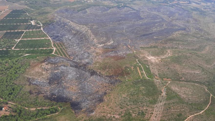El incendio de Rafelguaraf, extinguido dos días después
