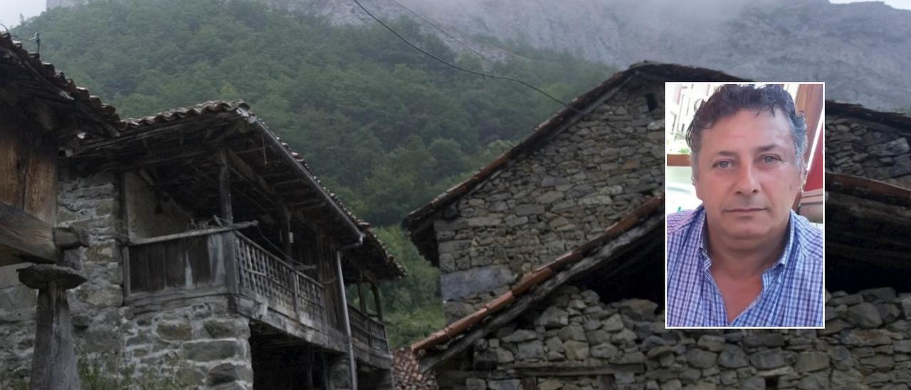 El pueblo de Viboli (Ponga) y el fallecido, Ramón Foyo