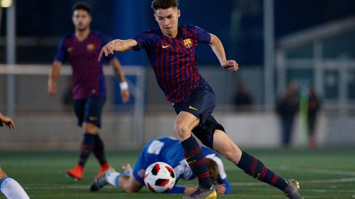 Mika Mármol, defensa del filial del Barcelona