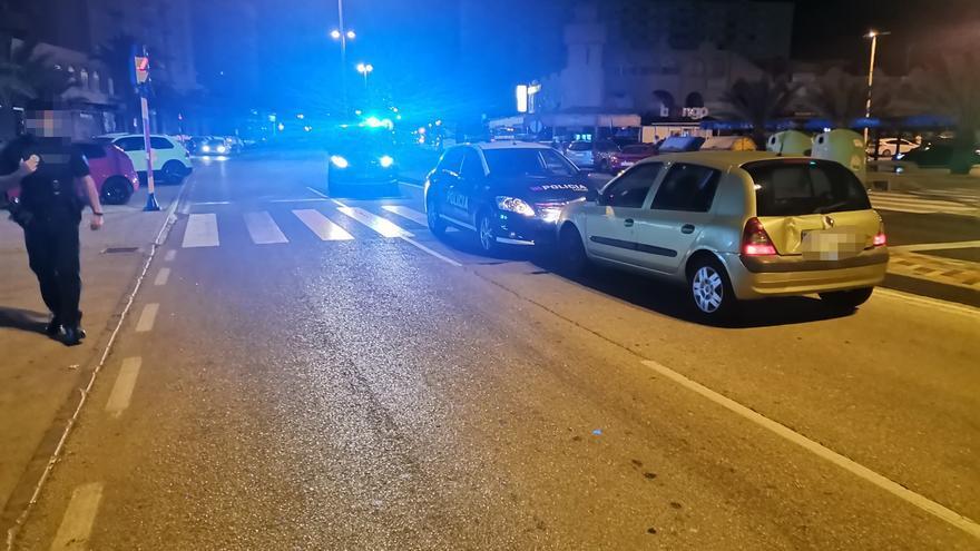 Detenido tras conducir borracho y embestir dos veces contra un coche de la Policía en La Manga