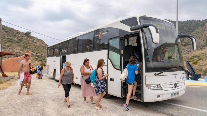 Los autobuses de Cartagena llegarán hasta la playa a partir de mañana