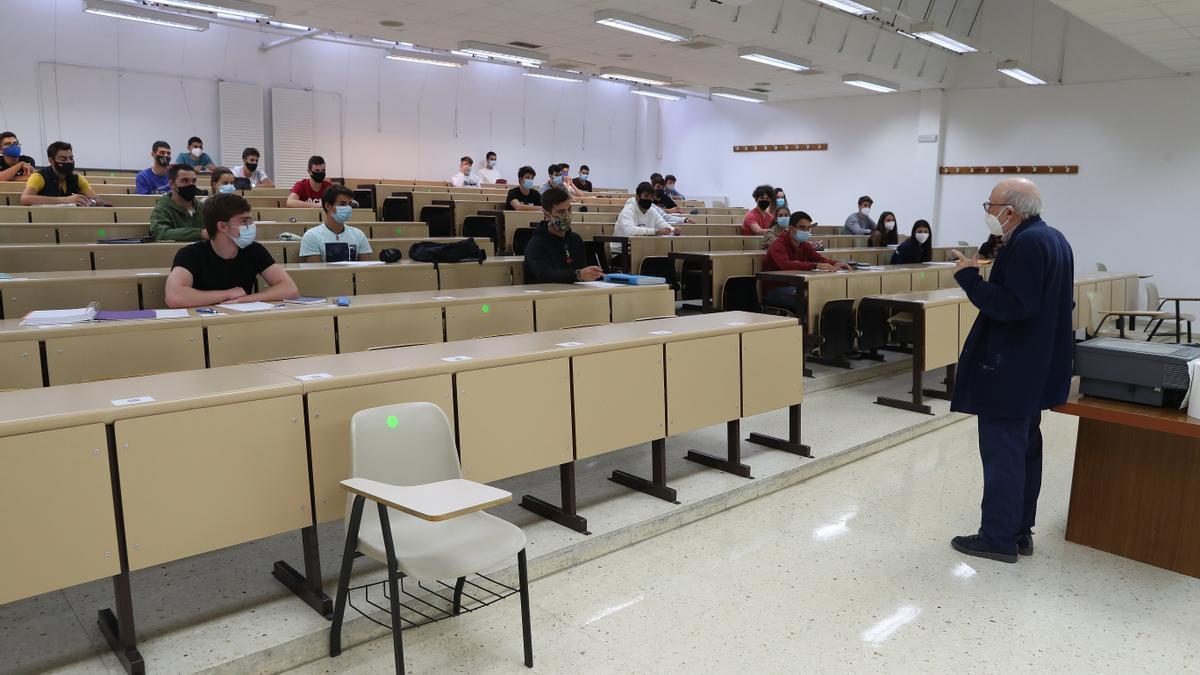 Un aula de la Universidad de Vigo.