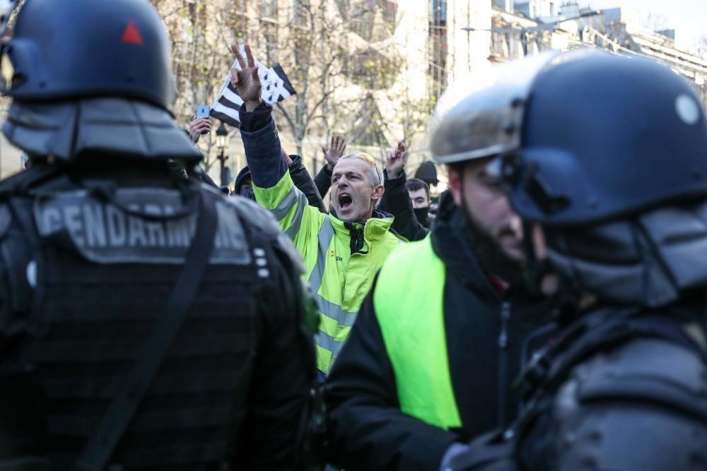Protesta de los 'chalecos amarillos' en París