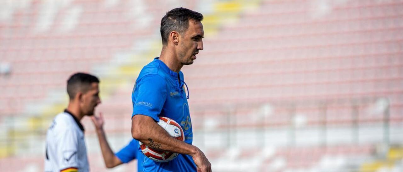 Pablo Caballero, en un partido de esta temporada con el Messina.