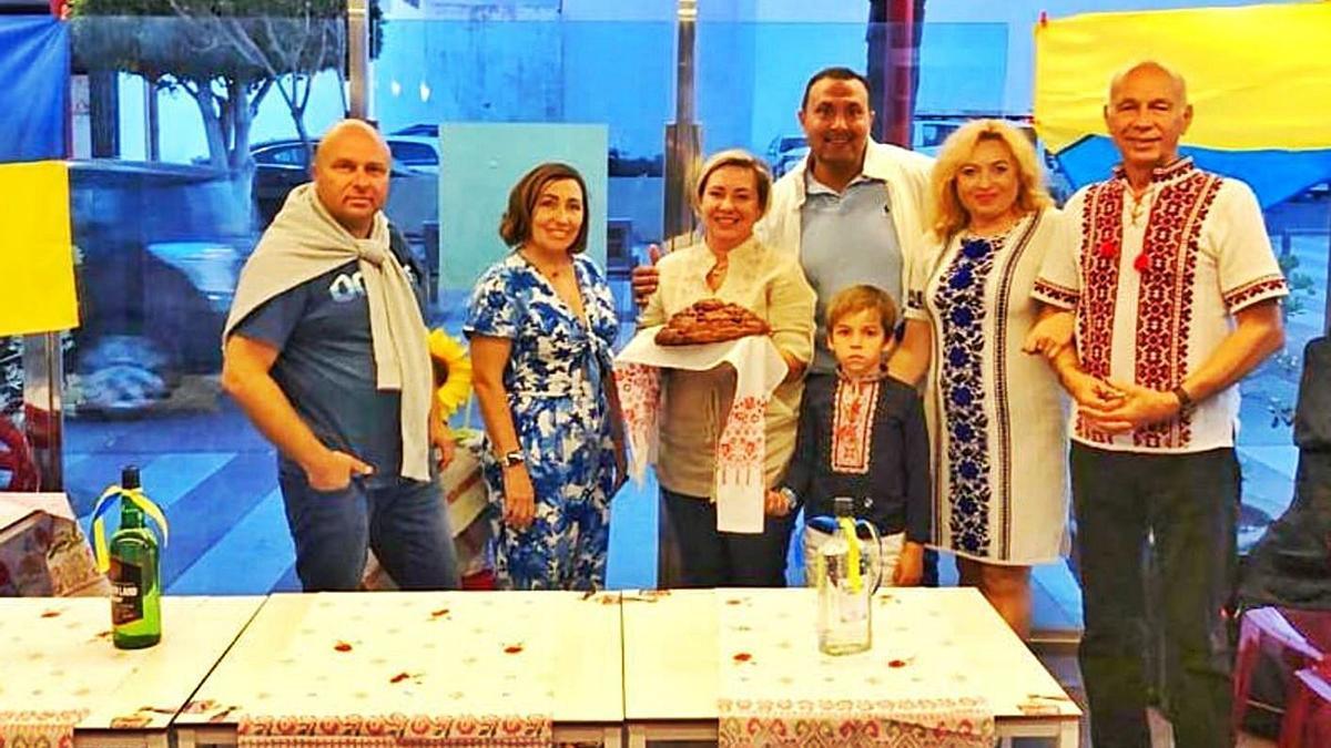 Ucrania celebra  el Día de Canarias   LP/DLP