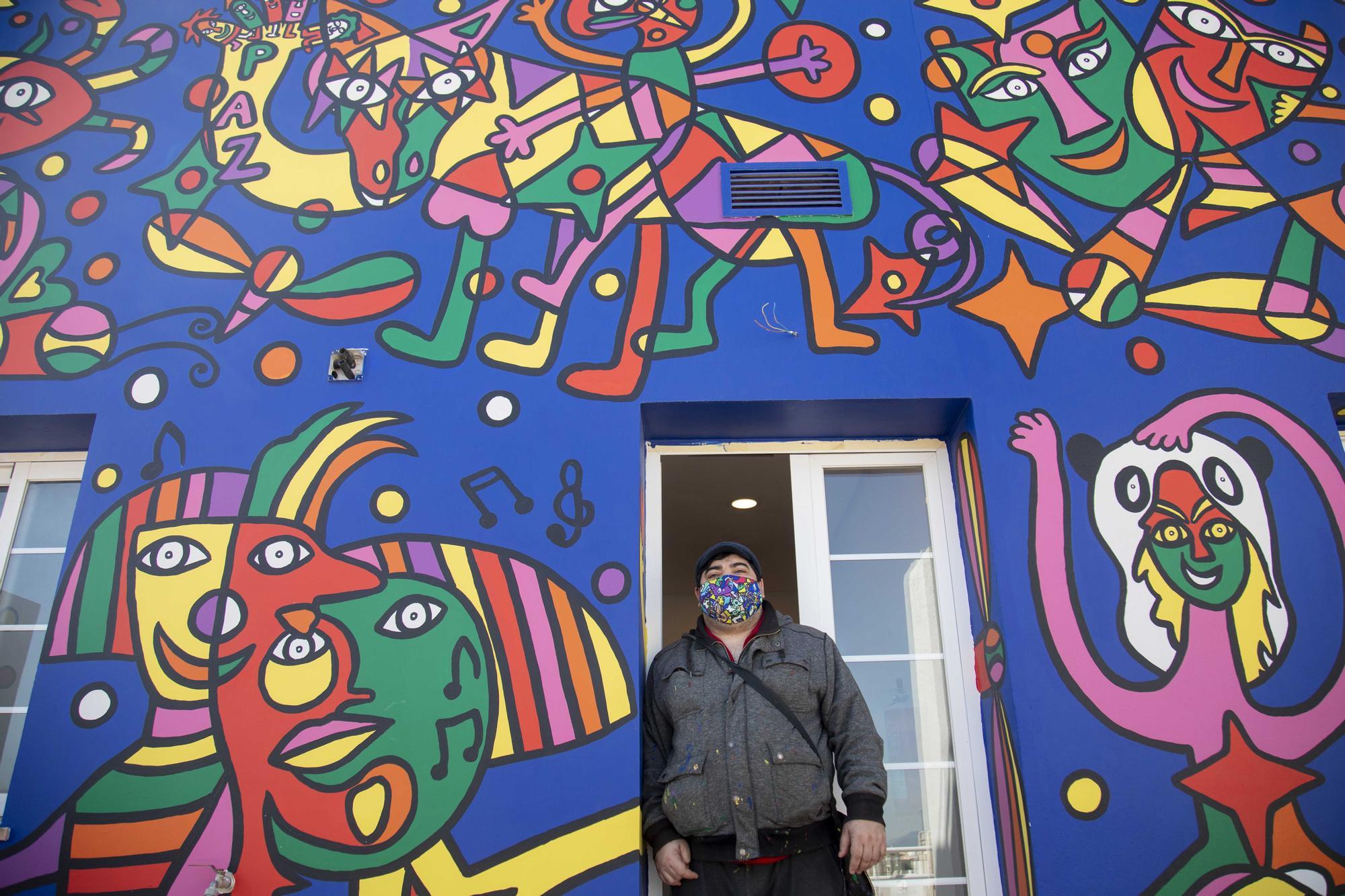 El Artmadams ofrece un aval a Cort para mantener el mural de Mesas de forma temporal