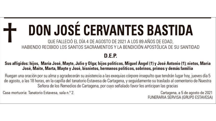 D. José Cervantes Bastida