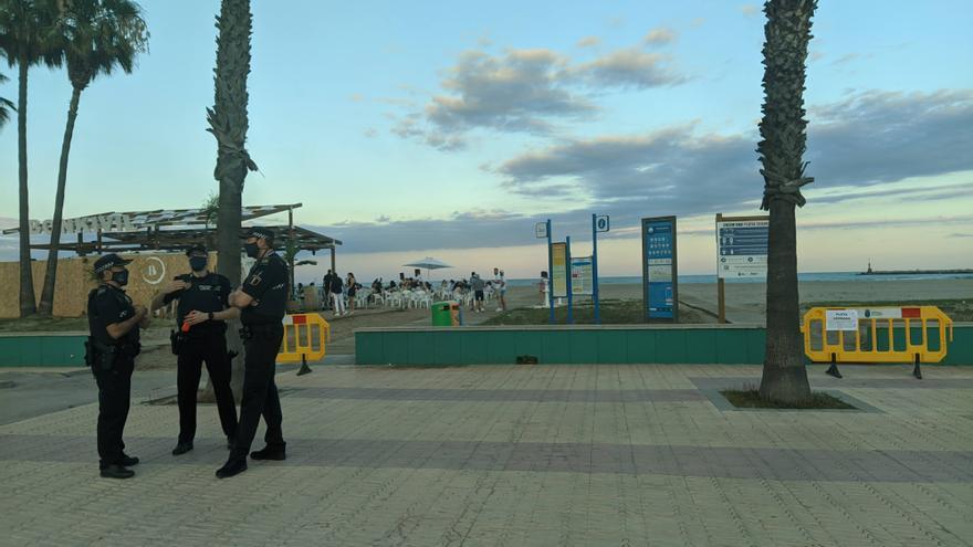 Burriana refuerza la seguridad en los chiringuitos con más policías