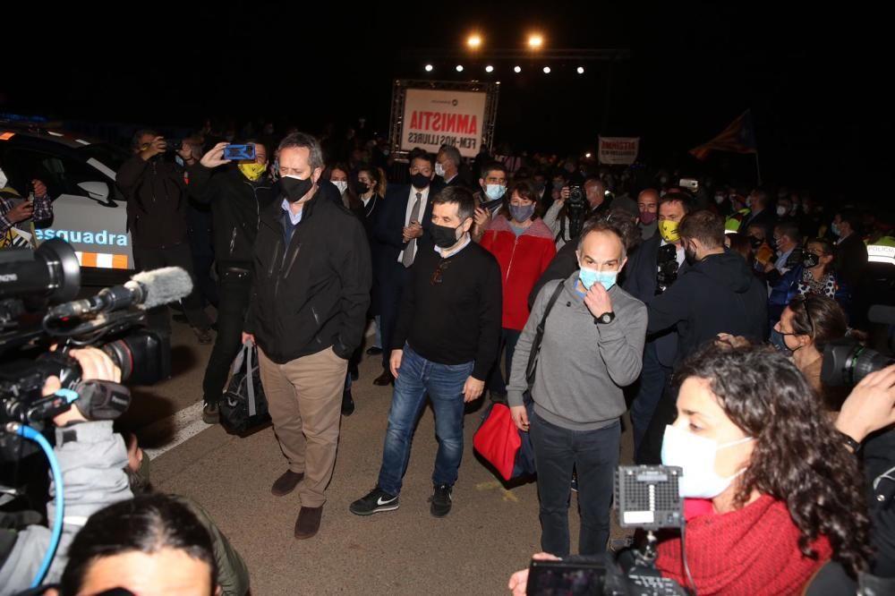 Els presos independentistes tornen a la presó de Lledoners