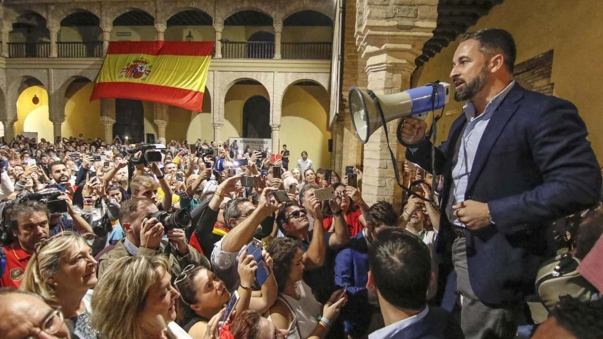 Santiago Abascal, en octubre del 2019 en el Palacio de Congresos.