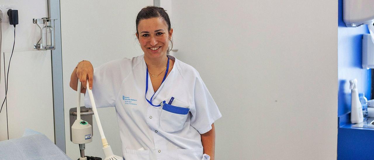Marta Bombardó Soria, esta semana en el Hospital  Can Misses.  vicent marí