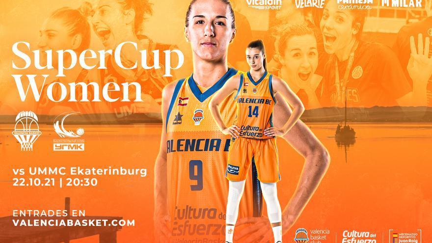 El Valencia Basket pone a la venta las estradas para la SuperCup Women