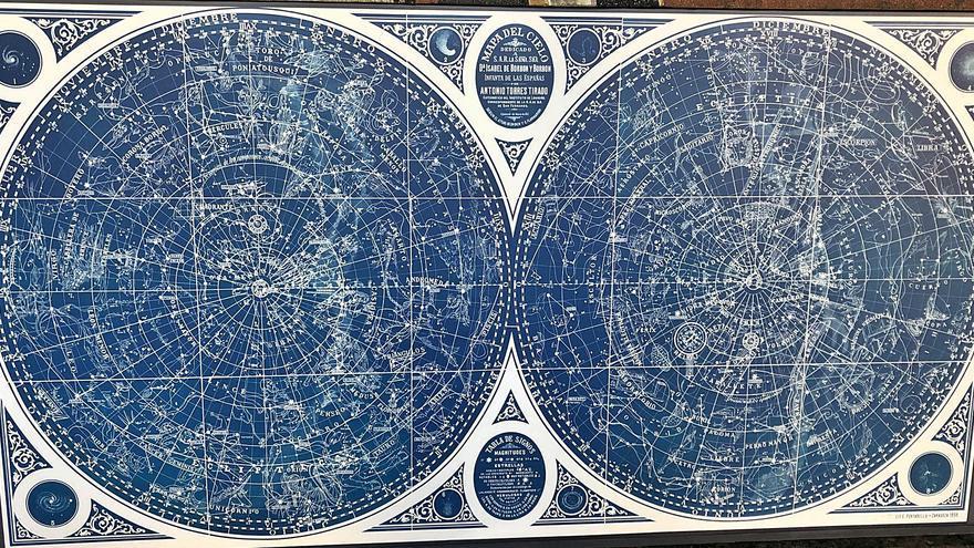 Un mapa del cel del segle XIX