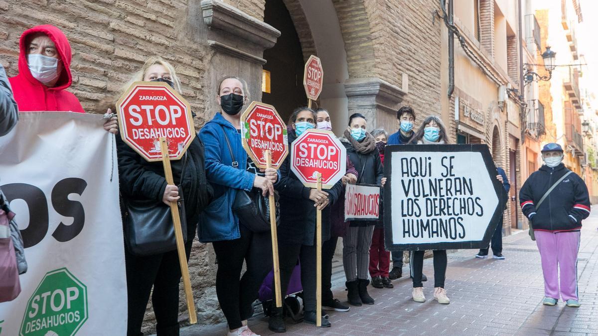Una protesta de la plataforma antidesahucios.