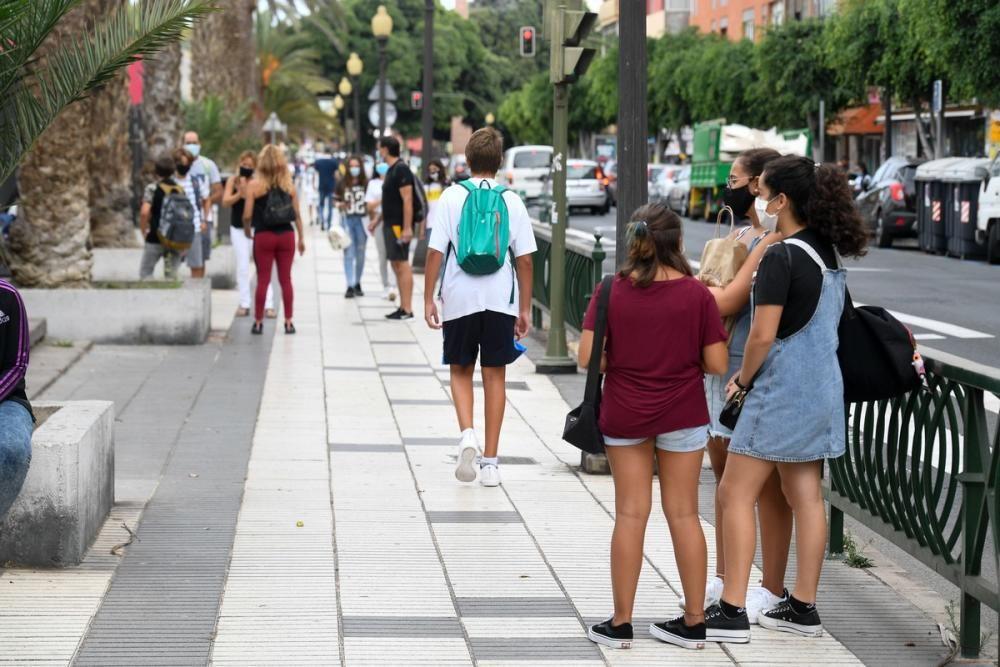 Vuelta al cole de los alumnos de Secundaria