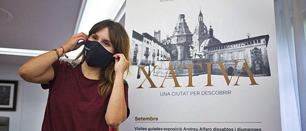 Raquel Caballero, ayer en el Ayuntamiento de Xàtiva.
