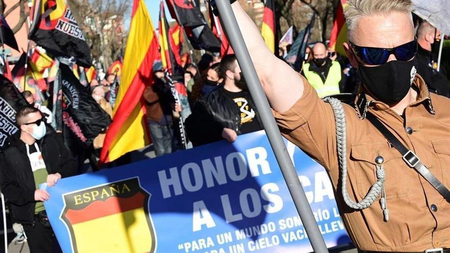 Un homenaje a la División Azul en Madrid concluye con el saludo nazi y proclamas antisemitas