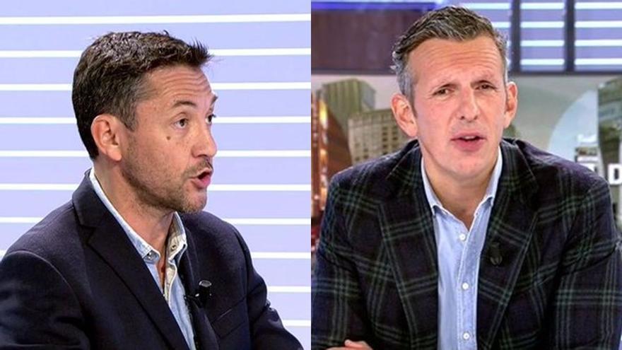 """Zasca de Javier Ruiz a Joaquín Prat tras criticar a Podemos por señalar a periodistas: """"Vox lo hizo conmigo"""""""