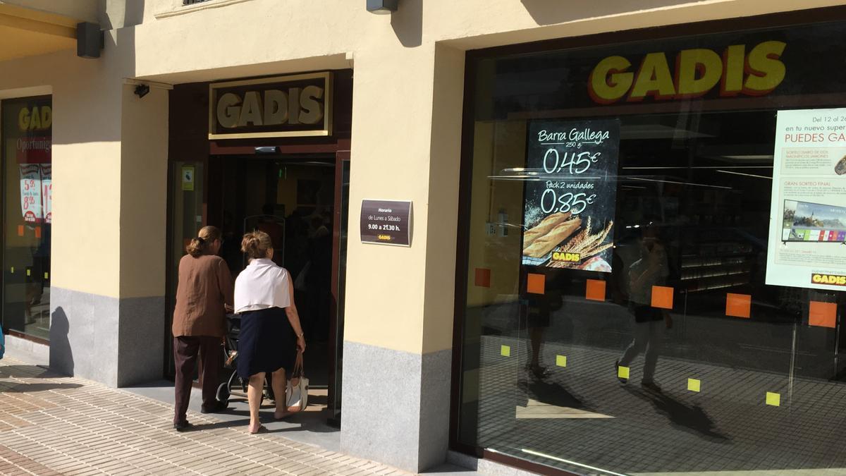 Un supermercado Gadis en Zamora