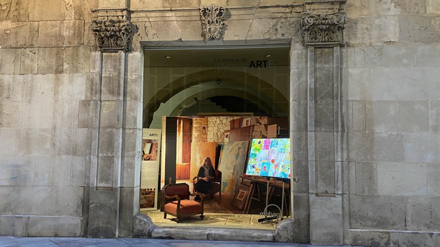 """María Chana abre """"La ventana del arte"""" del Mubag"""
