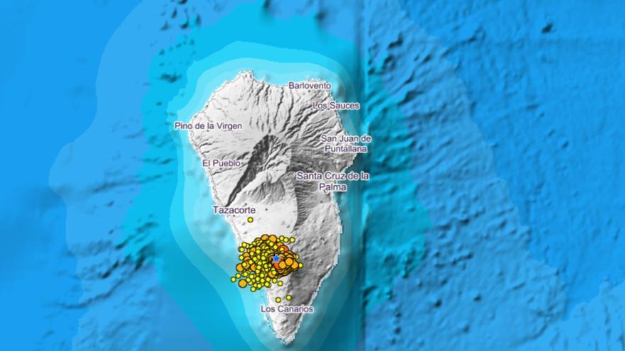 La superficie de La Palma se eleva a los 10 centímetros