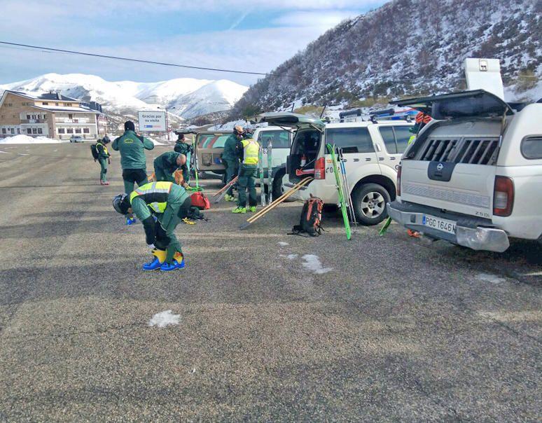 Simulacro de rescate en Pajares