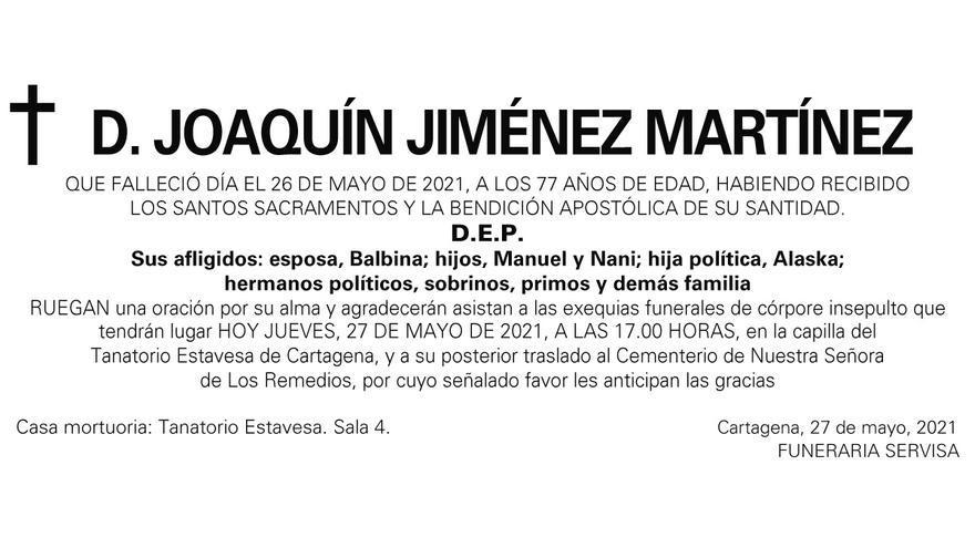 D. Joaquín Jiménez Martínez