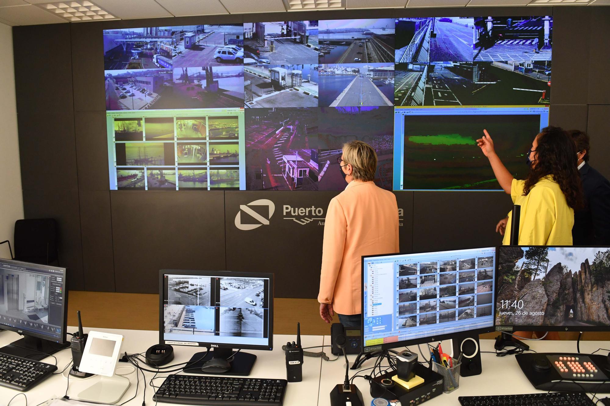 La sala de pantallas del Puerto de A Coruña contará con unas 300 cámaras