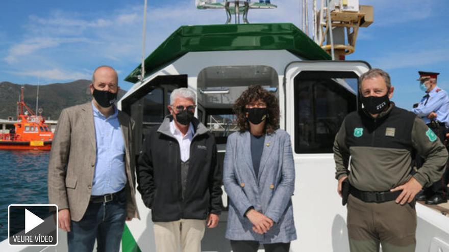 Els Agents Rurals estrenen al Port de la Selva la primera barca híbrida de Catalunya