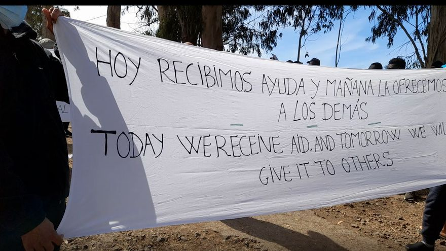 Protesta por las políticas migratorias en La Raíces - La Laguna (20/02/2021)