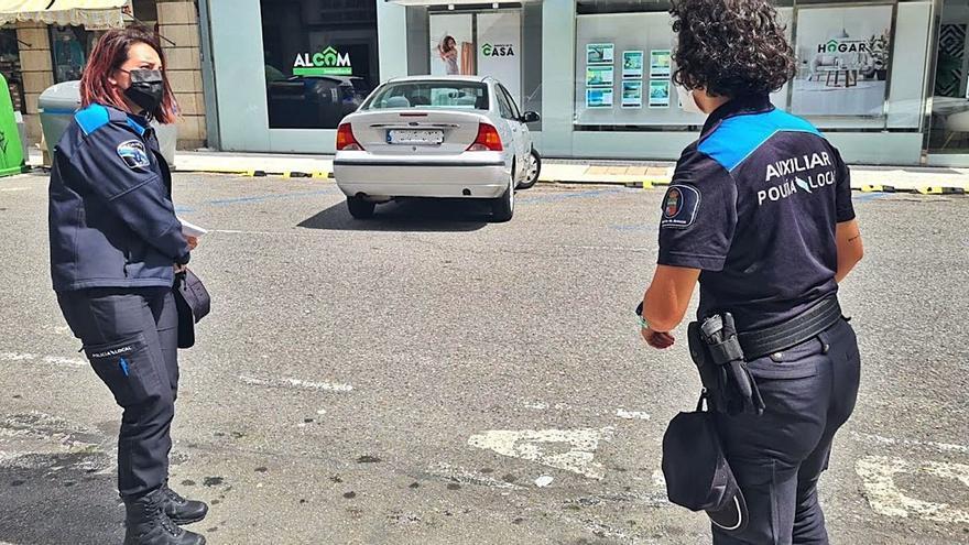 La policía protege las zonas peatonales