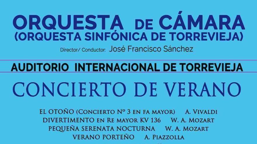 Nuevo concierto de la Orquesta Sinfónica de Torrevieja en el Auditorio Internacional