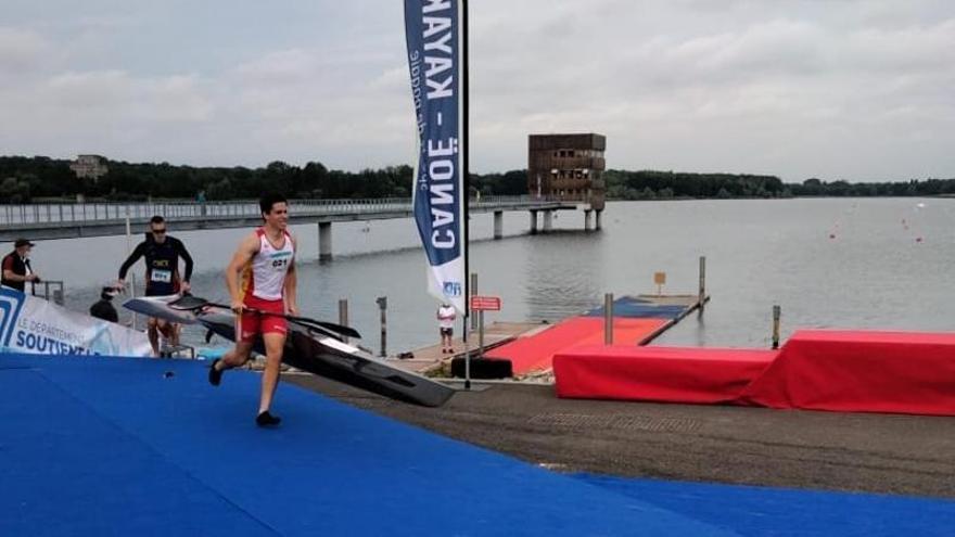 Medalla de oro para el asturiano Daniel Estébanez en la Copa del Mundo de maratón, en Vaires sur Marne (Francia)